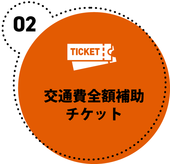 交通費全額補助チケット