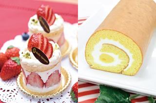 苺のショートケーキ/ロールケーキ
